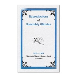 19th-23rd Assembly Minutes (1924-1928)