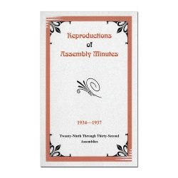 29th-32nd Assembly Minutes (1934-1937)