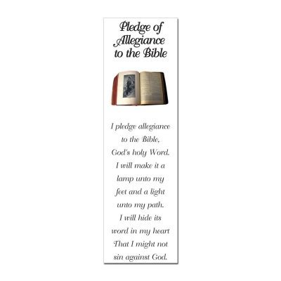 Bible and Flag Pledges Bookmark