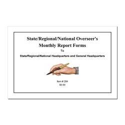 Overseer's Monthly Report Book